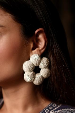 Handcrafted Floral Statement Earrings