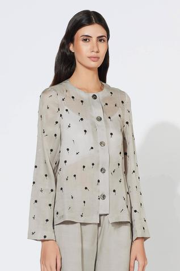 Silk Organza Cotton Shirt