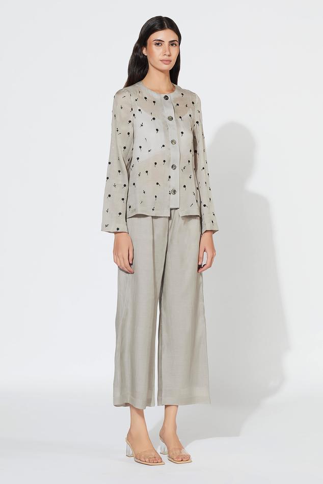 Silk Organza Cotton Shirt & Pant Set