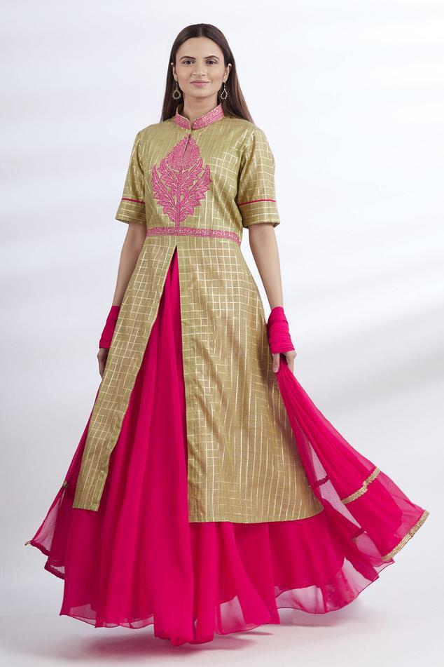Chanderi Kurta & Skirt Set