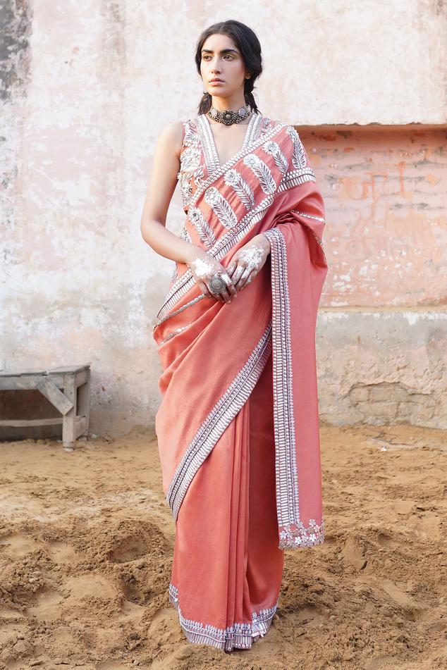Handwoven Chanderi Embroidered Saree