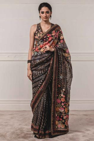 Organza Printed Saree with Blouse