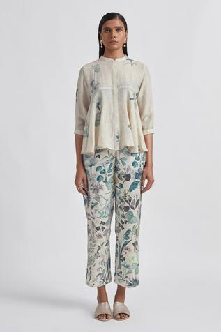 Hand Painted Silk Trousers