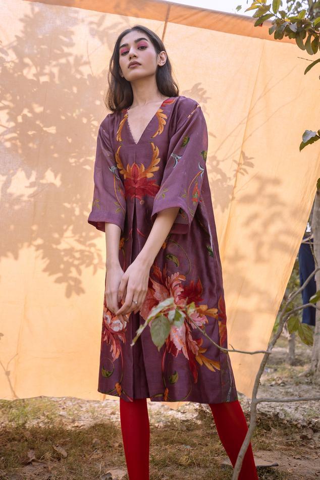 Silk Chanderi Dress