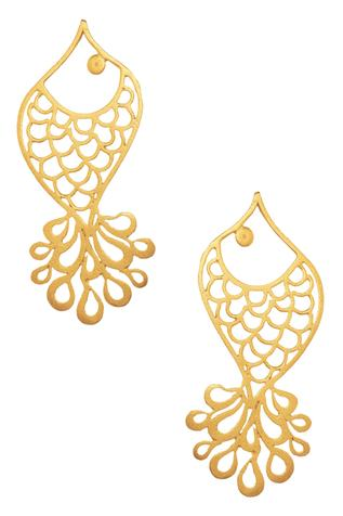Fish Carved Earrings