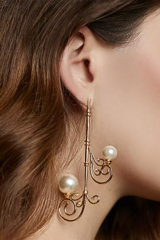 Bead Long Earring