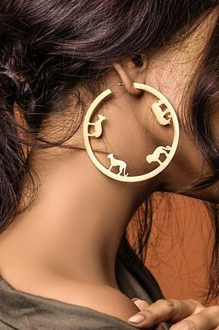 Carved Hoops