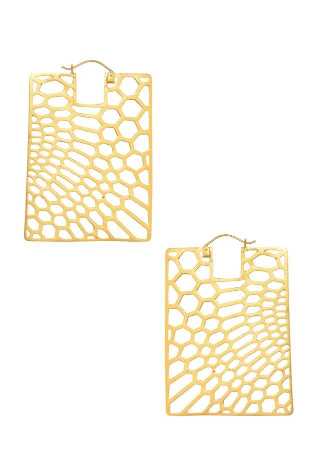 Geometric Cutwork Earrings