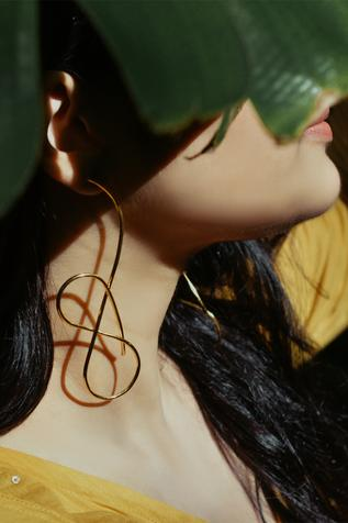 Handcrafted Abstract Wire Statement Earrings