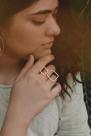 Handcrafted Geometric Ring