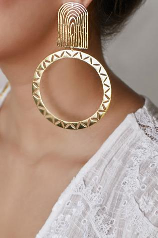 Cutwork Hoop Danglers