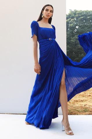 Draped Pleated Gown