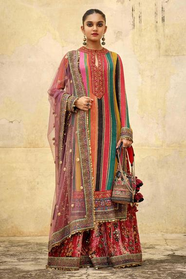 Chiffon Embroidered Kurta Set