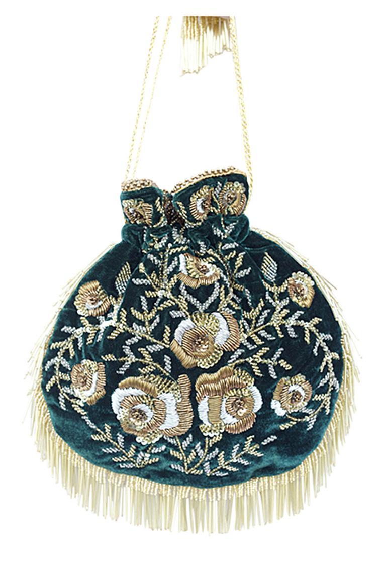 Floral Hand Embroidered Potli Bag