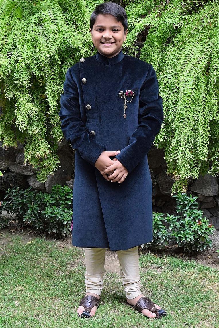 Overlap Style Sherwani Set