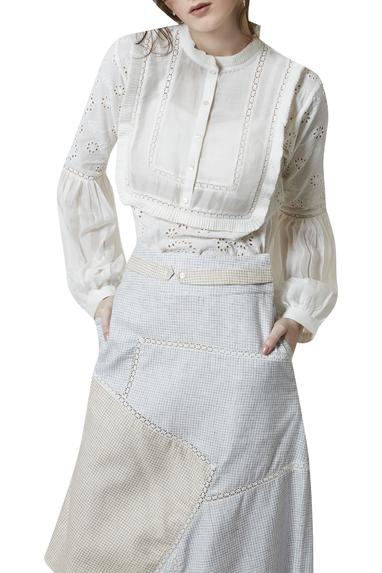 Victorian Style Top With Asymmetric Skirt
