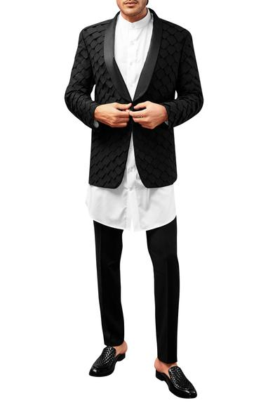 Patchwork Tuxedo With Shirt