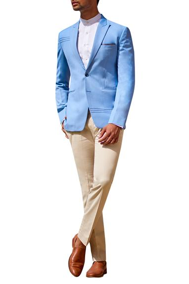 Blazer with shirt and chinos