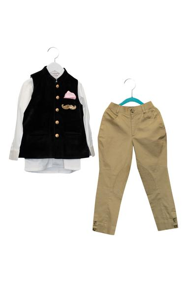 Hand Embroidered Jacket With Shirt & Breeches