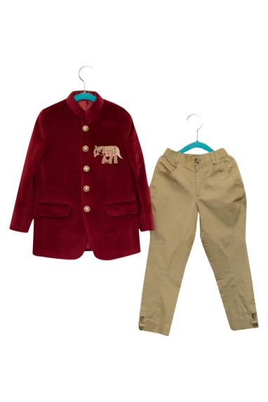 Elephant Embroidered Bandhgala With Breeches