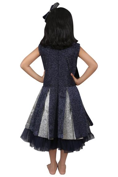 Layered frock with big bow
