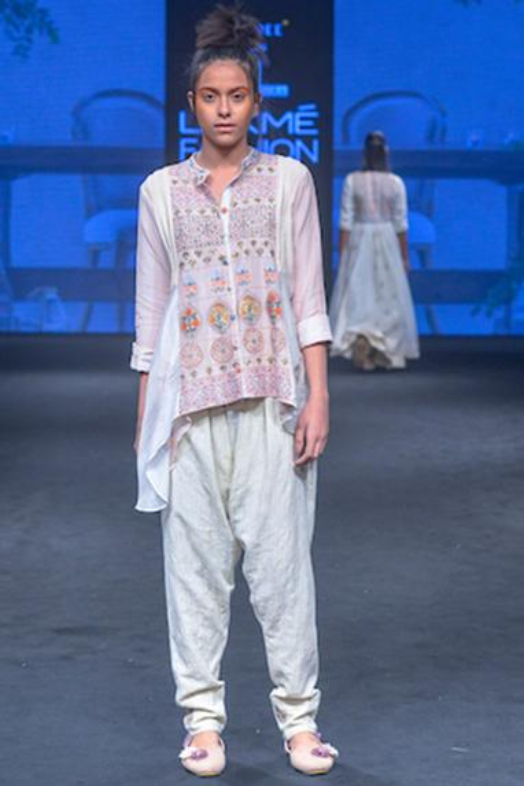 Cotton Silk Asymmetric Shirt