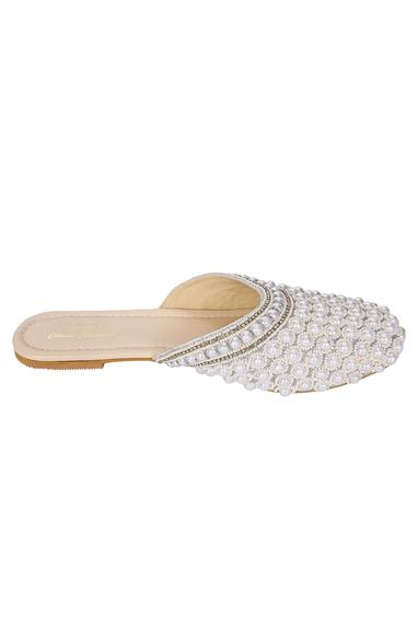 Embroidered Slip On Flats
