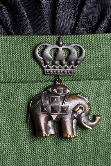 Antique Elephant Brooch