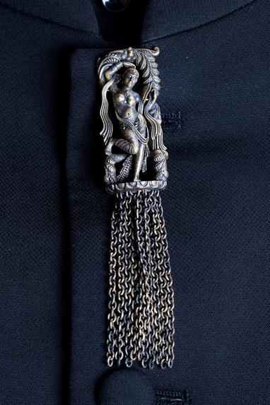 Antique Carved Chain Brooch