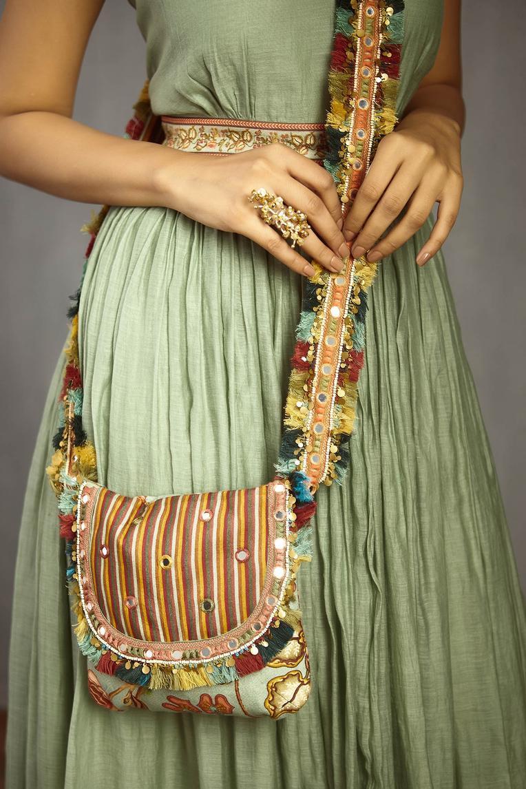 Chanderi Printed Sling Bag