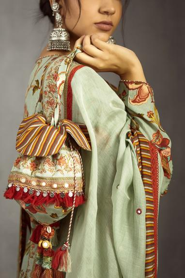 Chanderi Printed Potli Bag