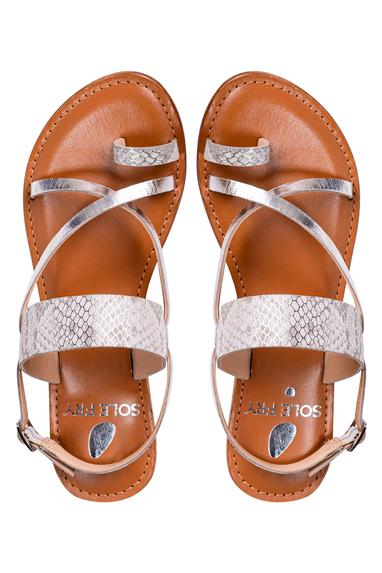 Textured Toe Ring Sandals