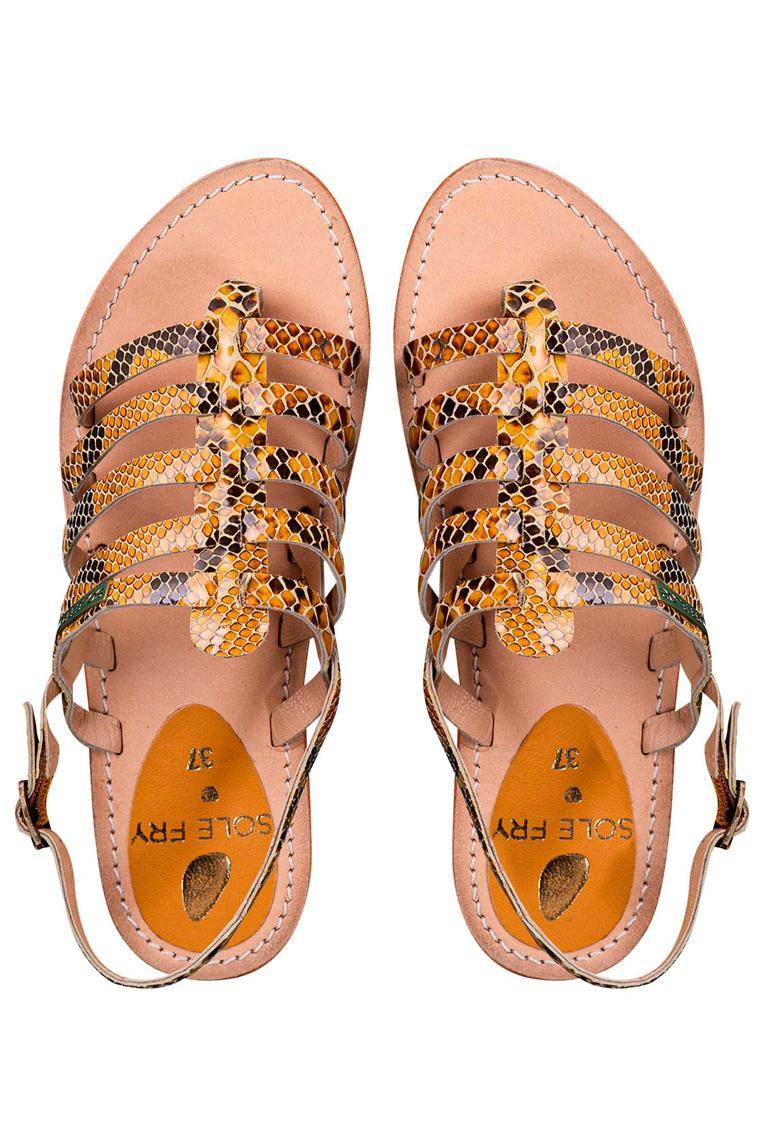 Textured Open Toe Sandals