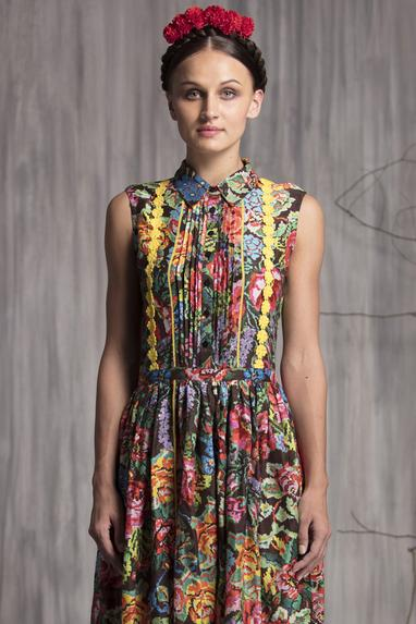 Chanderi Printed Dress