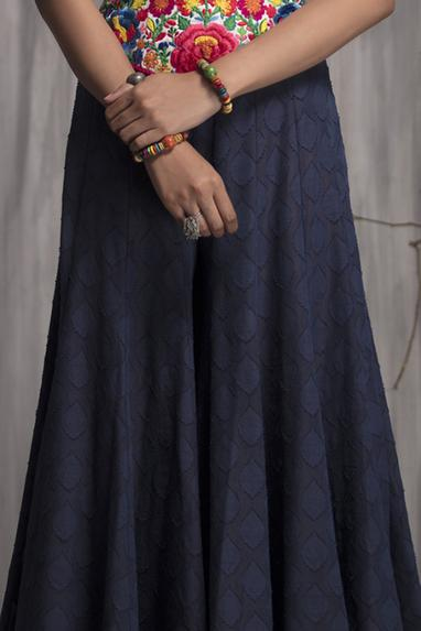 Embroidered Flared Pants