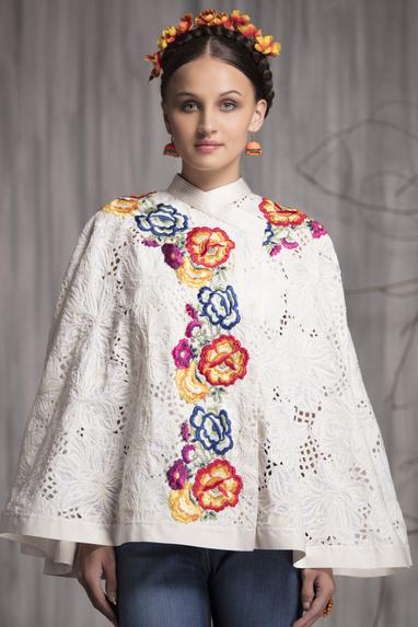 Embroidered Cape