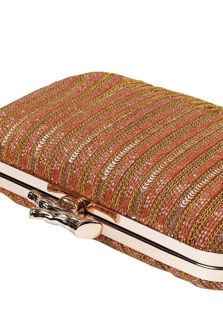 Embellished Tassel Clutch