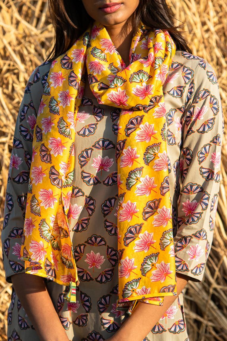 Silk Chanderi Printed Scarf