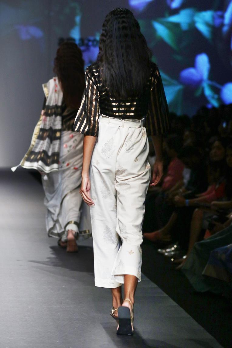 Silk Chanderi Top & Pant Set