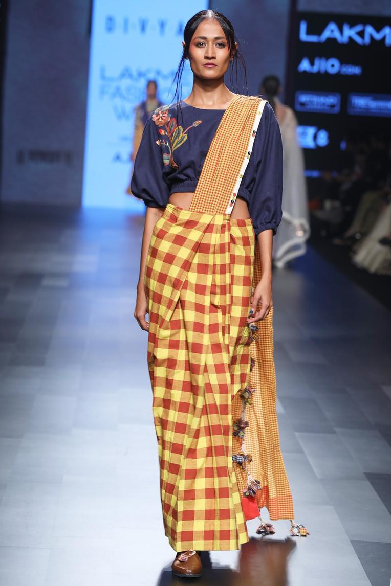 Handwoven Cotton Pre Draped Saree