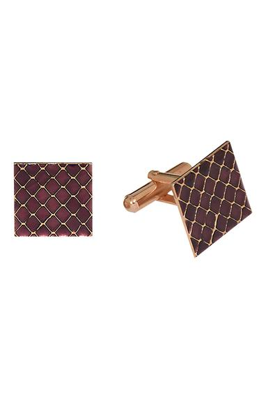 Purple handcrafted embellished cufflinks