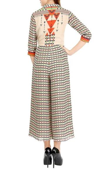 Printed Wrap Style Jumpsuit