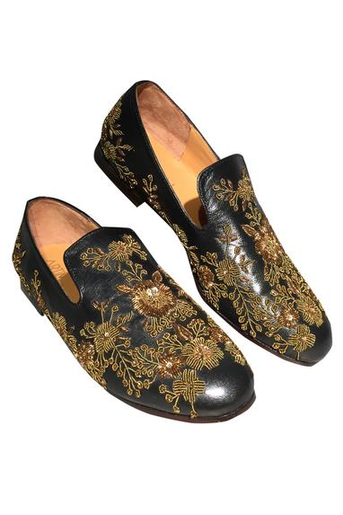 Zari Embroidered Loafers