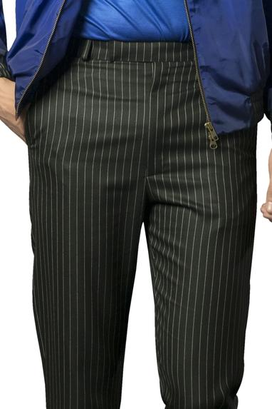 Pinstripe cropped formal trousers