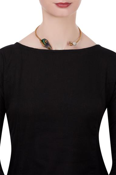 Statement choker encrusted with kaputt crystal