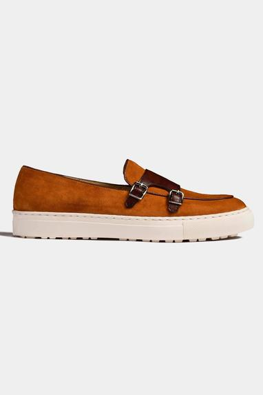 Suede Double Monk Strap Sneakers