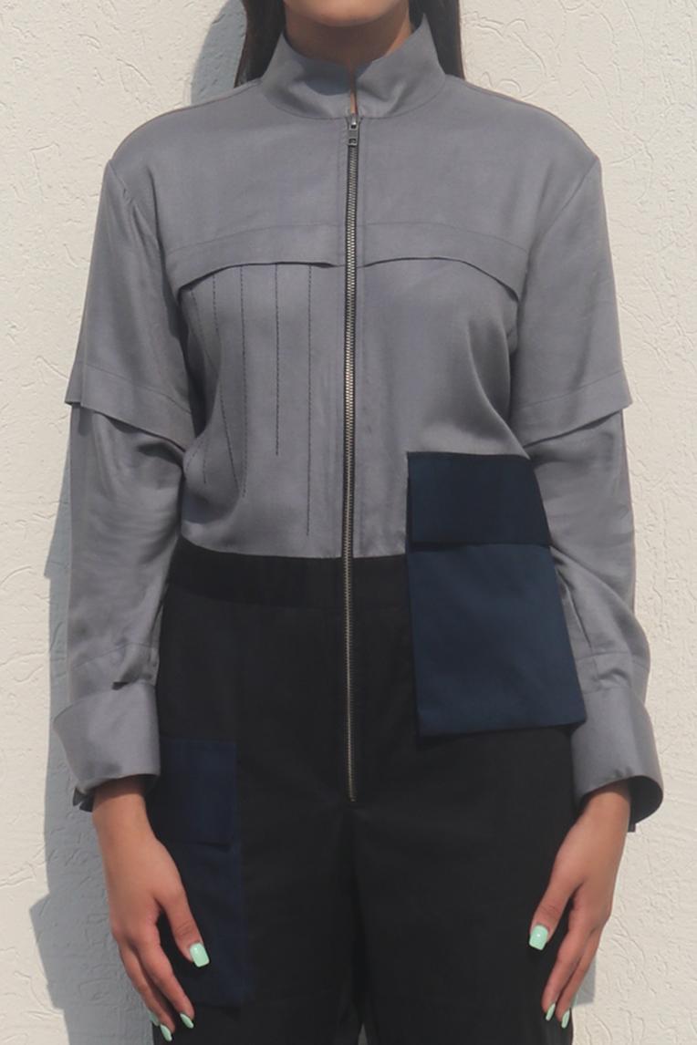 Cotton Linen Colorblock Jumpsuit