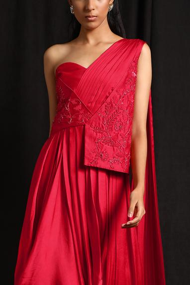 Chanderi Embroidered Gown