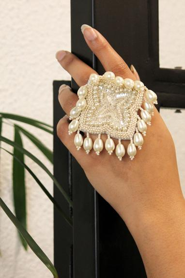 Handcrafted Statement Floral Ring