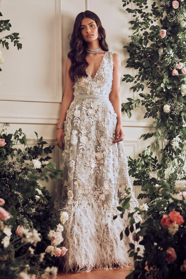 Carmellia Fringe Gown
